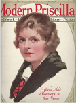 Modern Priscilla cover, woman wearing scarf