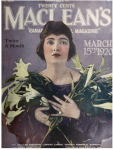 Maclean's magazine, March 15, 1920, womn carrying calla lilies