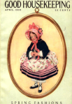 Good Housekeeping cover, April 1920, girl wearing bonnet