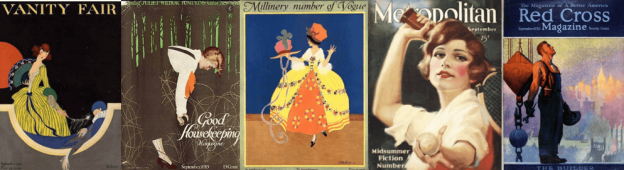 Banner of 1915 and 1920 magazine covers