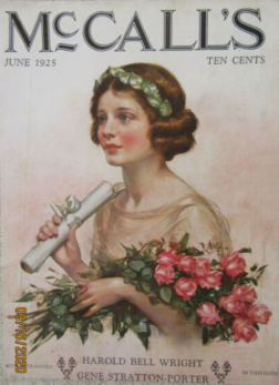 Neysa McMein McCall's cover, June 1925, woman graduating.