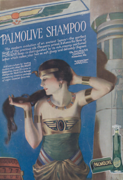 Neysha McMein Palmolive soap ad, Egyptian woman.