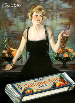 Adams gum ad, Neysa McMein, 1930, woman with chewing gum.