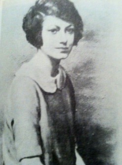Neysa McMein portrait of Dorothy Parker, ca. 1922.