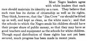 Text from The Story of Our Country by E. Boyd Smith claiming Negro leaders favor segregation.