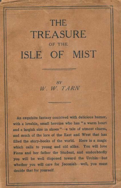 Cover, Treasure of the Isle of Mist, W.W. Tarn.