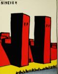 Ancient Man by Hendrik Willem van Loon, 1920, red towers of Nineveh.
