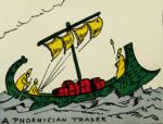 Ancient Man by Hendrik Willem Van Loon, 1920, Phoenician ship.