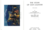 The Story of Our Country title page and frontispiece.