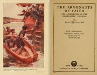 Title page and Frontispiece, Argonauts of Faith by Basil Matthews.