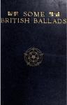 Cover of Some British Ballads.