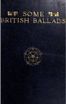 Cover of Some British Ballads.