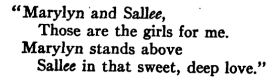 Poem from This Side of Paradise, 1920.