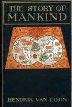 Cover, The Story of Mankind, Van Loon, 1921.