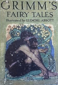 Cover, Grimm's Fairy Tales, Abbott, 1920.