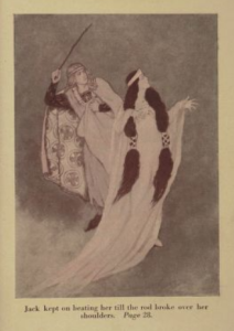 Tales of Wonder and Magic, Katharine Pyle, 1920, prince beating princess.