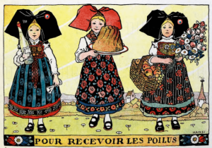 L'Alsace Heureuse, Hansi, 1919, three Alsace women.