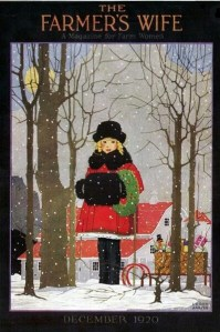 The Farmer's Wife cover, December 1920, woman in snow.