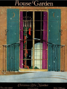 Harry Richardson House and Garden cover, window with wreath.