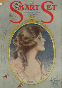 Smart Set cover, December 1920, woman on green background.