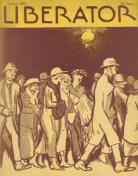 Liberator January 1921 cover, Cornelia Barnes, people walking down street.