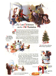 Aunt Jemima ad, Women's Home Companion, Last Christmas on the Old Plantation
