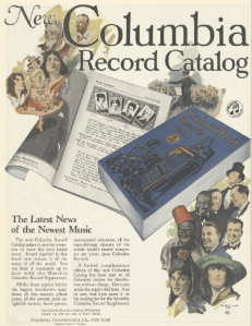 Columbia records ad, January 1921, Ladies' Home Journal.