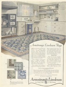 Armstrong linoleum rug ad, Ladies' Home Journal, January 1921.