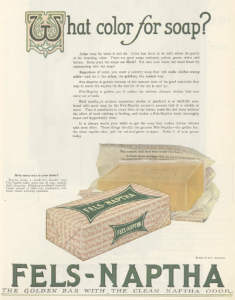 Fels-Naphtha soap ad, Ladies' Home Journal, January 1921.