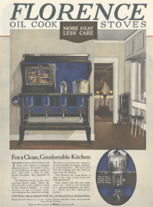 Florence oil stove ad, Ladies' Home Journal, January 1921.