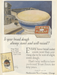 Yeast foam ad, Ladies' Home Journal, January 1921.