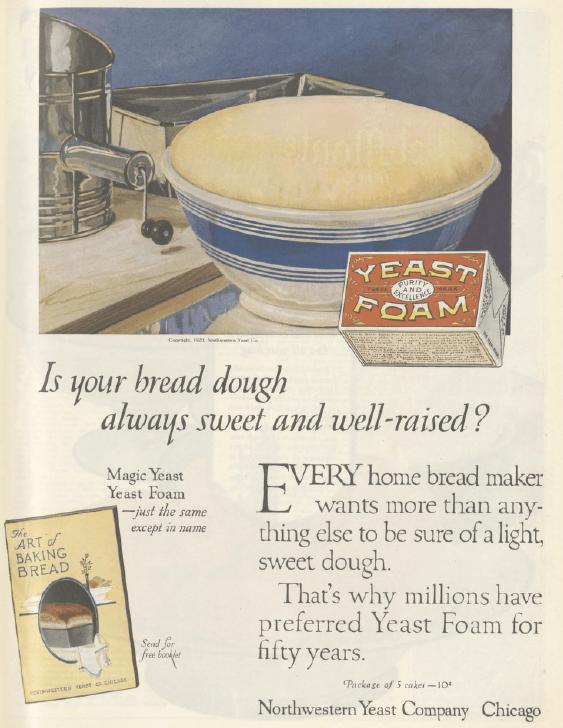 Yeast foam ad, Ladies' Home Journal, January 1921.