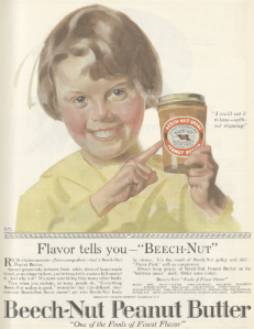 Beech Nut peanut butter ad, Ladies' Home Journal, January 1920.
