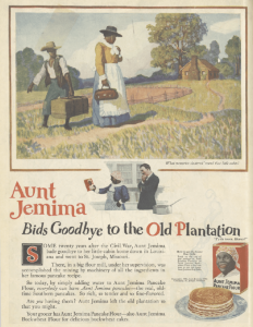 Aunt Jemima ad, Ladies' Home Journal, January 1921, good-bye to the old plantation.