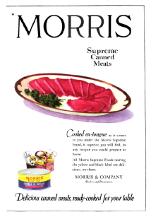 Morris canned meat ad, Good Housekeeping, January 1921.