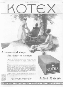 First Kotex ad, Ladies' Home Journal, January 1921.