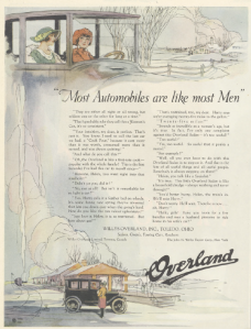 Overland Ad, Ladies' Home Journal, January 1921.