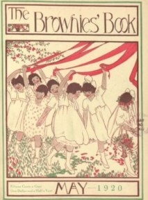 The Brownies' Book cover, May 1920, girls dancing around maypole.