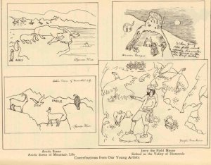 Illustrations from readers, The Brownies' Book, May 1920