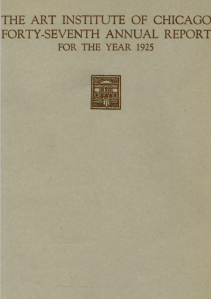Cover, Bulletin of the Art Institute of Chicago, 1925.