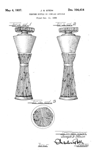 Patent application for Lelong perfume bottle, Lelong.