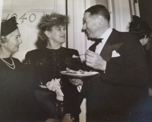 Rita Senger and others at party.