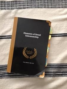 Book, Elements of Retail Salesmanship.