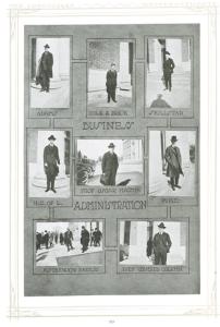 Photographs of Business Administration staff, University of Nebraska, 1920.