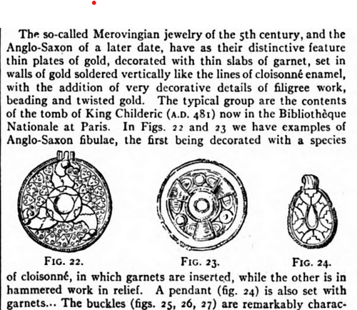 Excerpt from entry on Jewelry in 1911 Encyclopedia Britannica.